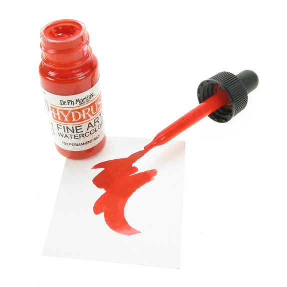 Dr. Ph. Martin's Hydrus Fine Art Watercolor 15mL - 15H Permanent Red