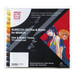 Kurecolor Fine & Brush Set for Manga
