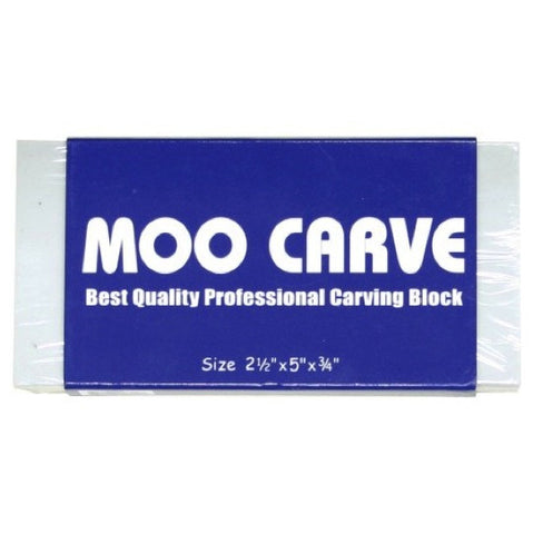 Moo Carve Carving Block - 2.5x2.5x0.75