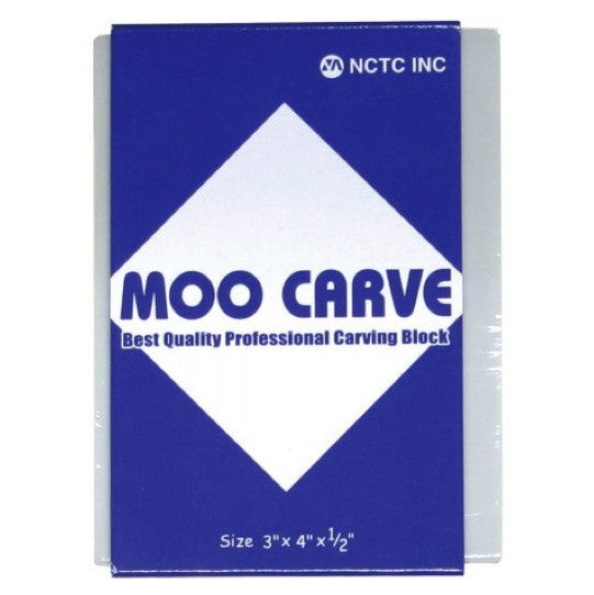 Moo Carve Carving Block - 3X4X0.5