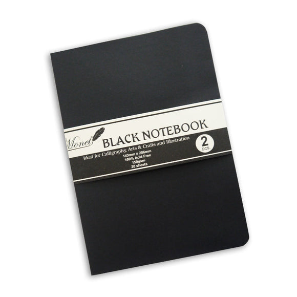 Monet Black Notebook