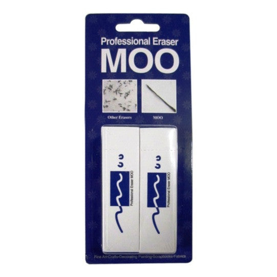Moo PVC Eraser 2/Pkg-83g/Medium