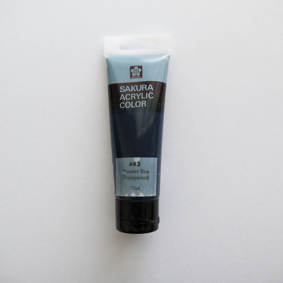 Sakura Acrylic Color 75mL - #43 Prussian Blue (Transparent)