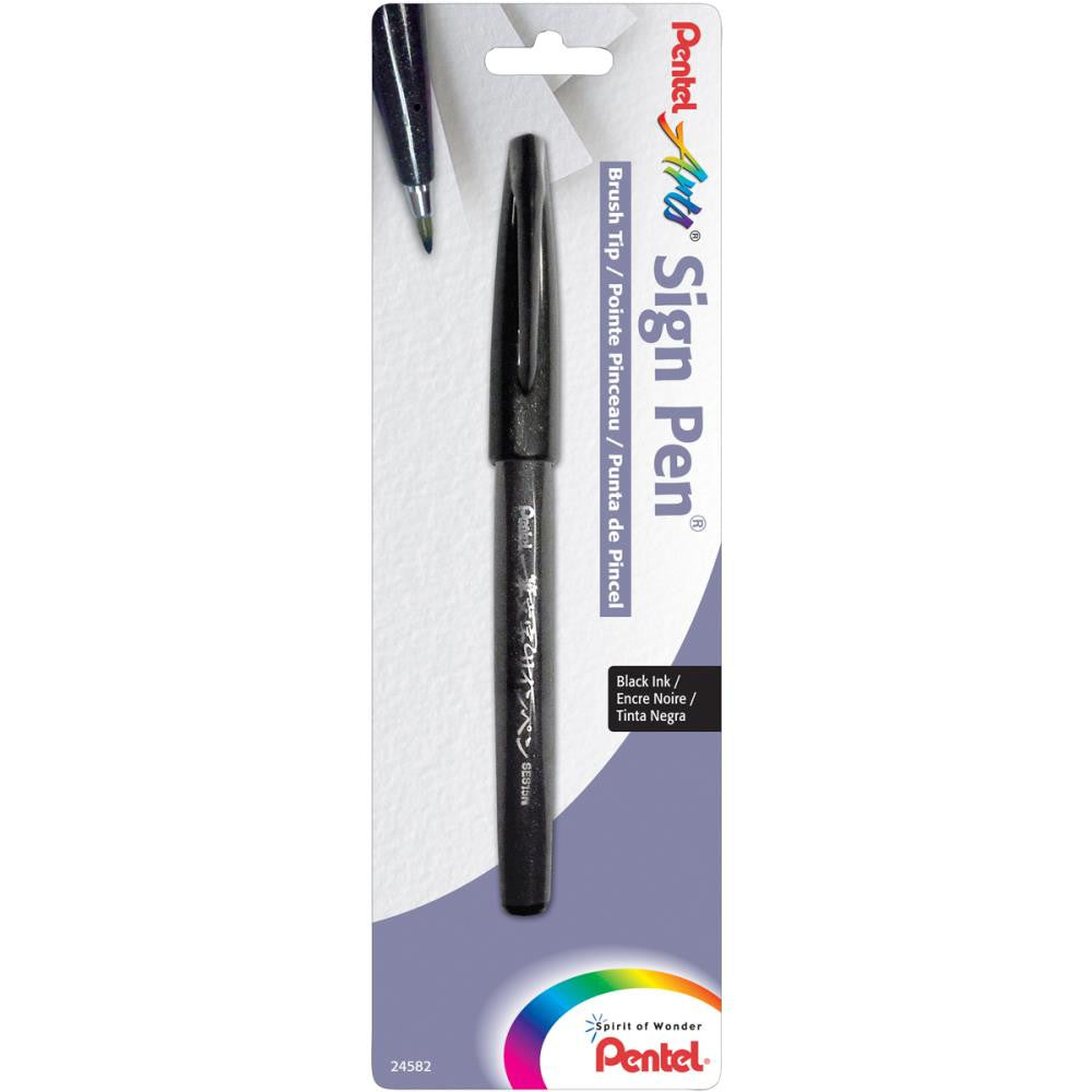 Pentel Arts Sign Pen With Brush Tip