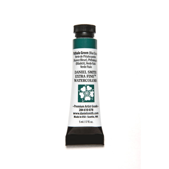 Daniel Smith Extra Fine Watercolor 5mL - Phthalo Green (Blue Shade)