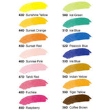 Dr. Ph. Martin's Radiant Concentrated Watercolor - Color Chart