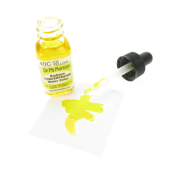 Dr. Ph. Martin's Radiant Concentrated Watercolor 15mL - 40C Ice Yellow