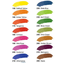 Dr. Ph. Martin's Radiant Concentrated Watercolor Set - Color Chart
