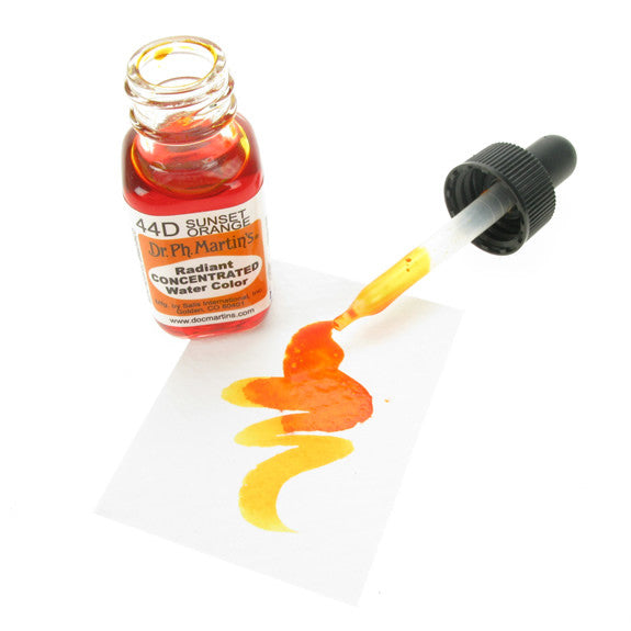 Dr. Ph. Martin's Radiant Concentrated Watercolor 15mL - 44D Sunset Orange