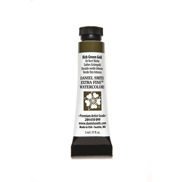 Daniel Smith Extra Fine Watercolor 5mL - Rich Green Gold