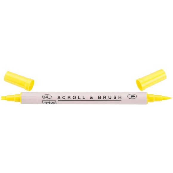 Kuretake ZIG Scroll & Brush Pen - Pure Yellow