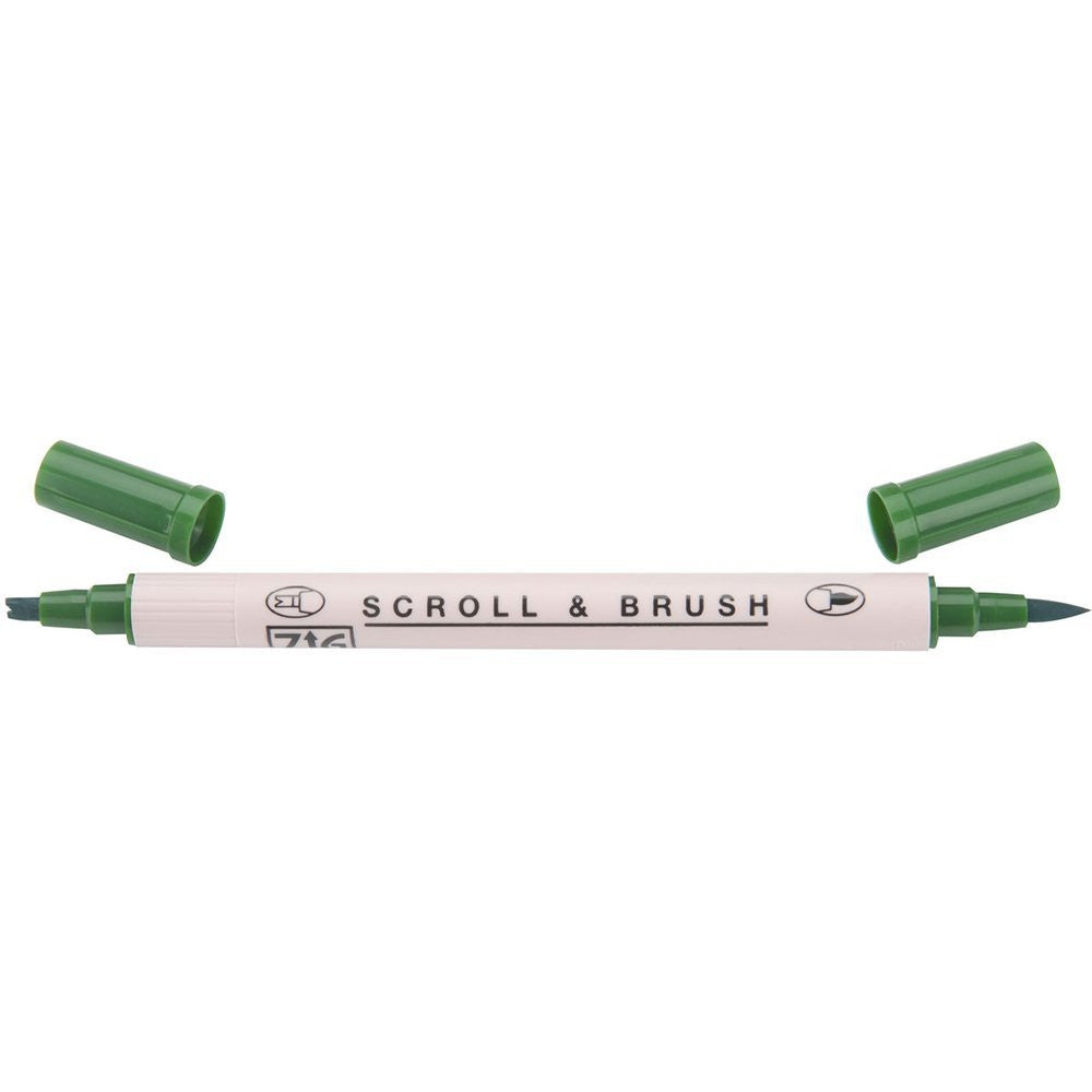 Kuretake ZIG Scroll & Brush Pen - Green