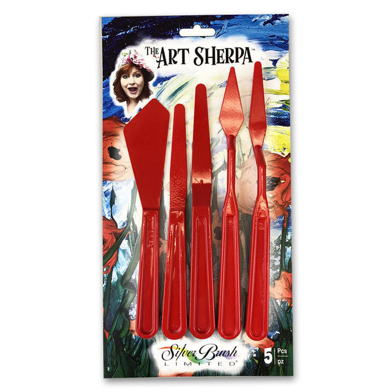 Silver Brush The Art Sherpa 5-Pc Palette Knife Set