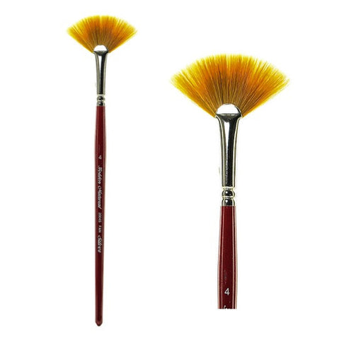 Silver Brush Golden Natural Brush - Fan