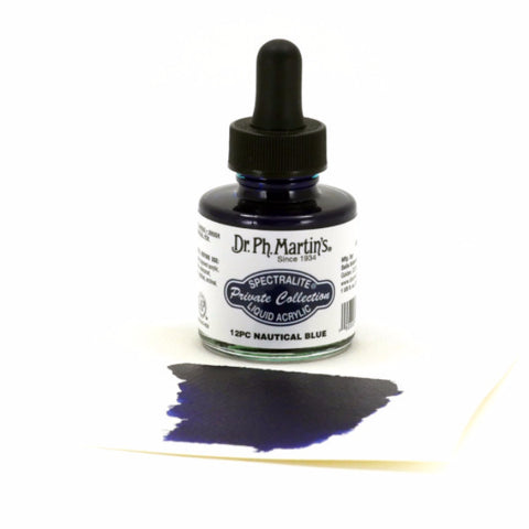 Dr. Ph. Martin's Spectralite Liquid Acrylic 30mL - 12PC Nautical Blue