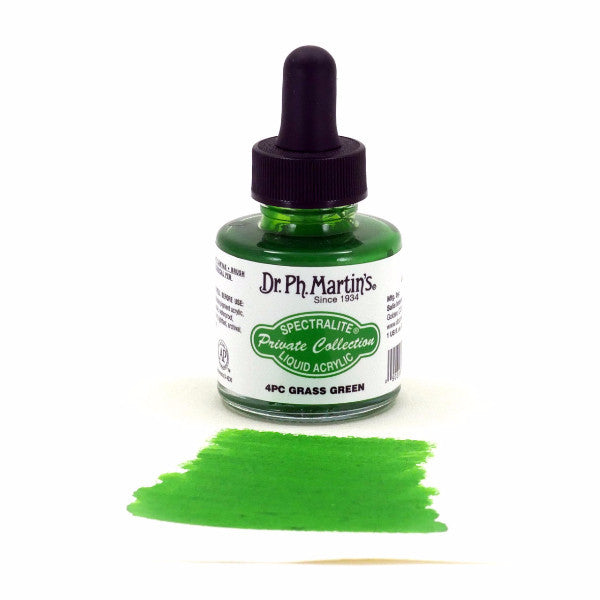 Dr. Ph. Martin's Spectralite Liquid Acrylic 30mL - 4PC Grass Green