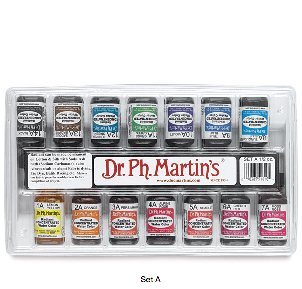Dr. Ph. Martin's Radiant Concentrated Watercolor 15mL - SET A
