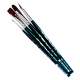 Silver Brush Ruby Satin Brush - 4-Piece Set
