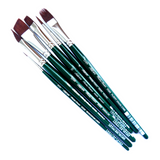 Silver Brush Ruby Satin Brush - 6-Piece Set