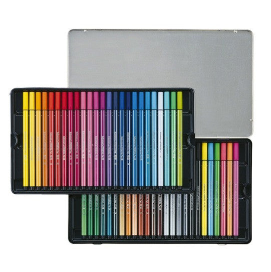 Stabilo Pen 68 Marker 50 Color Set In Metal Case Craft