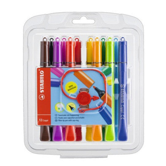Stabilo Cappi Coloring Pens - 12 Color Set – Craft Carrot