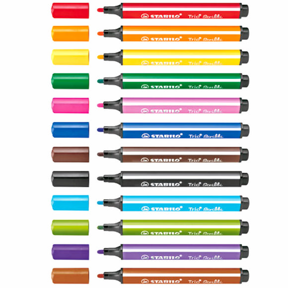 Stabilo Trio Scribbi - 12 Color Set