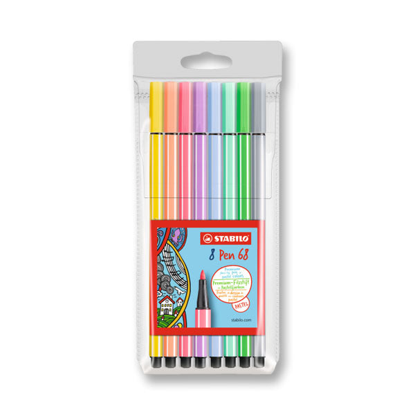 Stabilo Pen 68 Pastel Colors set of 8