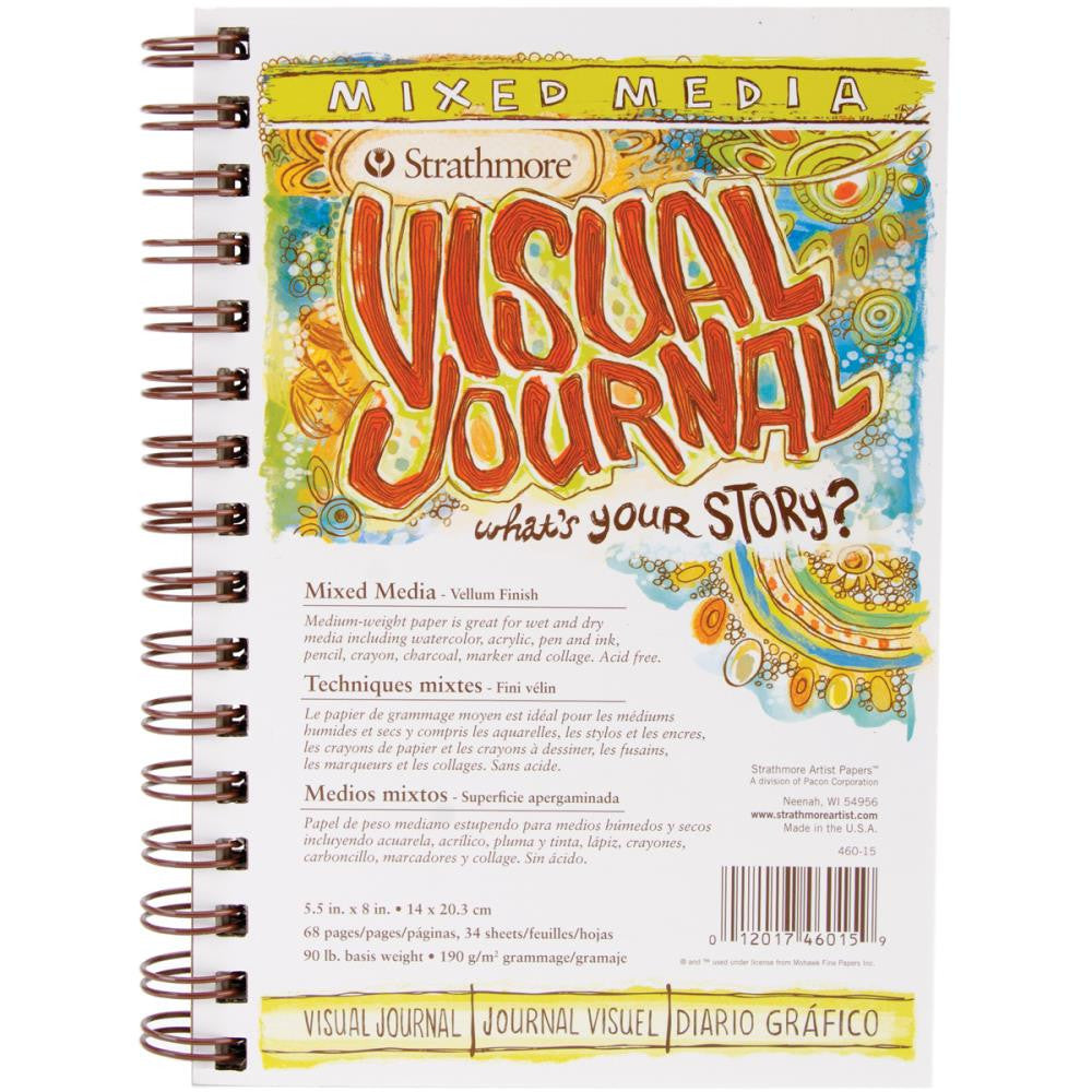 "Strathmore Visual Journal Mixed Media Vellum 5.5""X8"""