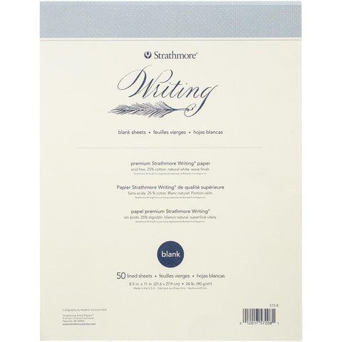 "Strathmore Writing Pad Blank 8.5""X11"""
