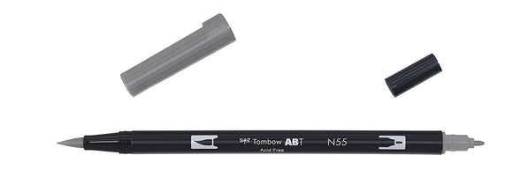 Tombow ABT Dual Brush Pen - N55 Cool Gray 7