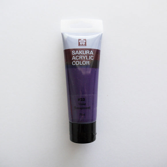 Sakura Acrylic Color 75mL - #23 Violet (Transparent)