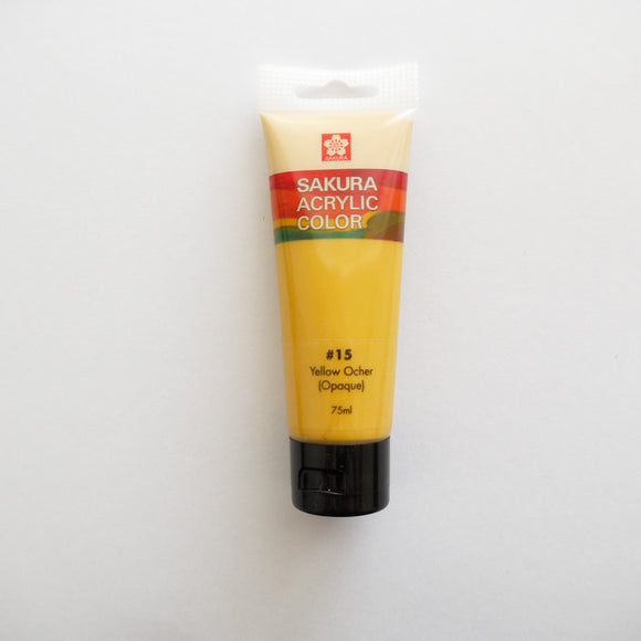 Sakura Acrylic Color 75mL - #15 Yellow Ocher (Opaque)