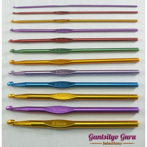 12-PC Aluminum Crochet Hook Set
