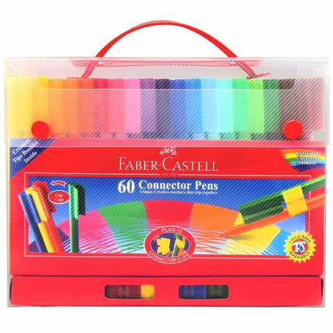 Faber-Castell CONNECTOR felt-tip pen gift set 60 pieces