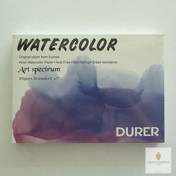 Durer Watercolor Pad 5x7in 300gsm 25sh