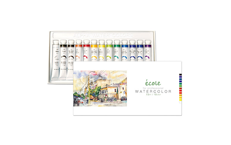 Alpha Ecole Professional Watercolor 13-Color Set