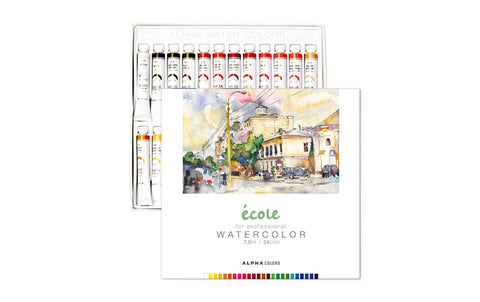 Alpha Ecole Professional Watercolor 24-Color Set