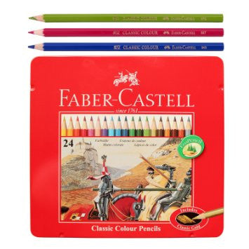 Faber-Castell Classic Color Pencils 24 in Metal Case