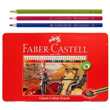 Faber-Castell Classic Color Pencils 36 in Metal Case