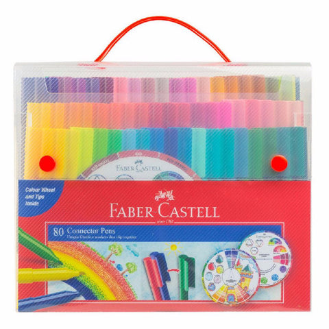 Faber-Castell CONNECTOR felt-tip pen gift set 80 pieces