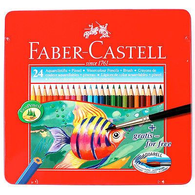 Faber-Castell Watercolor Pencils 24 in Metal Case