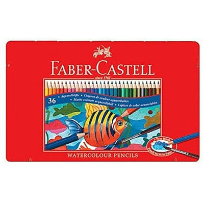 Faber-Castell Watercolor Pencils 36 in Metal Case