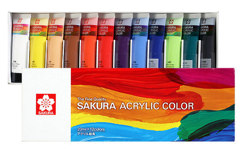 Sakura Acrylic Color - Set of 12