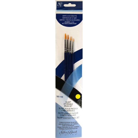 Silver Brush Sterling Studio 4-PC Value Set SS-100