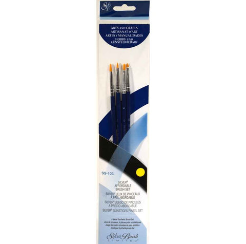 Silver Brush Sterling Studio 4-PC Value Set SS-103