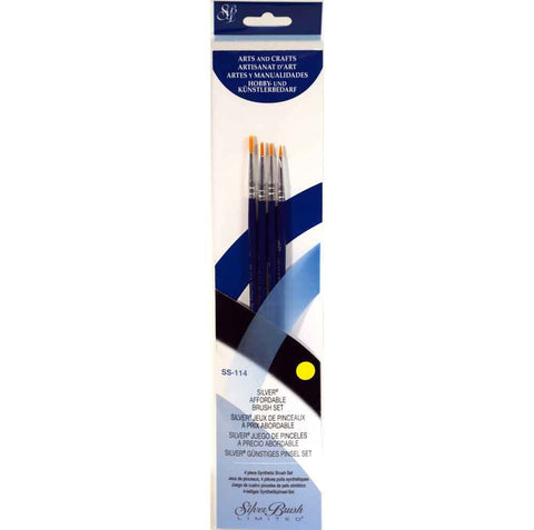Silver Brush Sterling Studio 4-PC Value Set SS-114