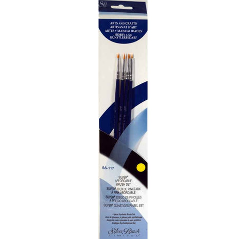 Silver Brush Sterling Studio 4-PC Value Set SS-117