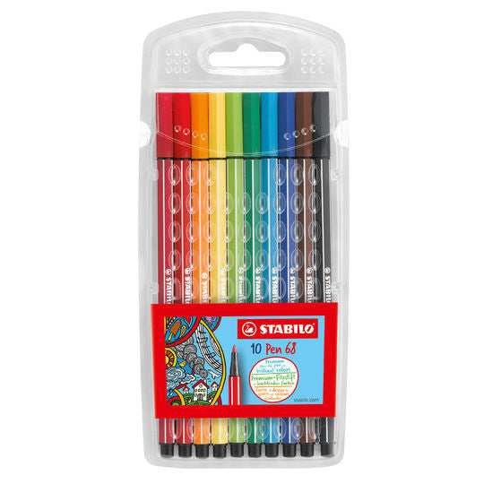 Stabilo Pen 68 Marker - 10 Color Set in Wallet
