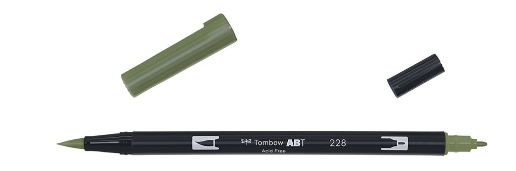 Tombow ABT Dual Brush Pen - 228 Gray Green