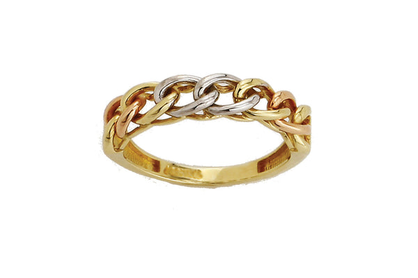 LEPOSA GOLD RING TRICOLOR 121/205